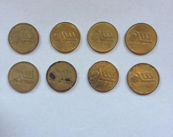 Circulated Active West Arcade Token Coin Lot