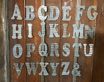 "10"" C - Recycled Antique Roofing Tin Letter by JunkFX"