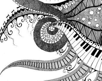 Set of 4 Abstract Coloring Pages