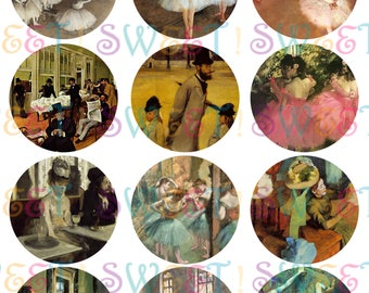Edible Degas Painting Cupcake, Cookie, Oreo & Drink Toppers - Wafer Paper or Frosting Sheet.