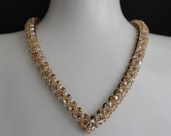 """Swarovksi crystal golden shadow crystal necklace """"A la hauteur"""""""