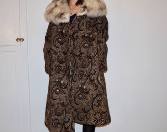 winter coat with fur collar