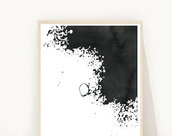 Minimalist Art, Abstract Art Print, Printable Art, Black and White Art,  Modern Wall Art,  Digital Download, Wall Decor, Black Abstract