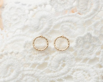MOTHER DAY SALE - Circle Studs - Gold Circle Earrings - Open circle stud earrings - Round circle earrings - Gift for Mom