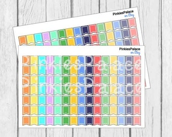 105 Mini Flag Stickers Planner Stickers  PS445