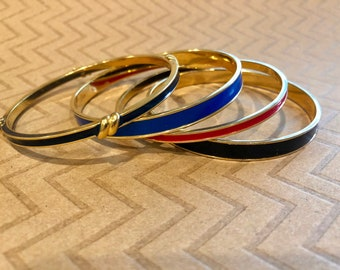 Monet Bangles - Four Signed from 1980s