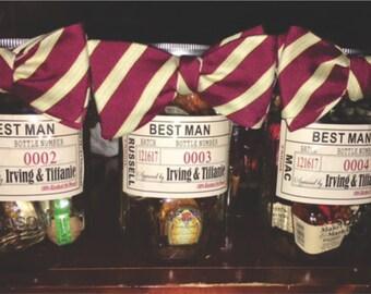Will you be my Groomsman - Wedding Groomsman Liquor Labels - Mason Jar - Liquor Jar - Open Bar - Groomsmen Labels -  Grooms Gifts - 1