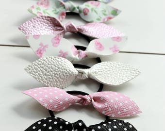 Knotted Bow-clip, ponies or headband