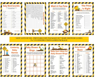 Construction Baby Shower Game, Printable Construction Shower Game, Dump Truck Baby Game, Dump Truck Baby Shower - Printables 4 Less 0038
