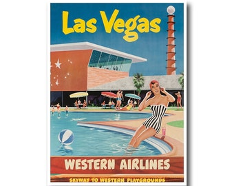 Las Vegas Art Print Travel Poster Nevada Vintage Home Decor (XR872)