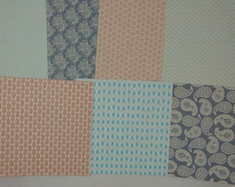 """Neroli"" glitte patterned papers set 3"