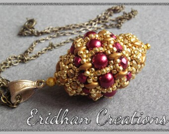 "Beaded bead - ""Byzantine"" - tutorial"