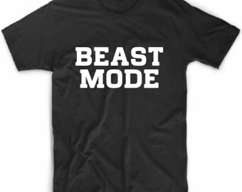 Beast Mode T-shirt / Workout T-Shirt / Plus Size T-shirt / Gym Tshirt / Activewear Tee / Weight Lifting Tshirt / Training Exercise Tshirt