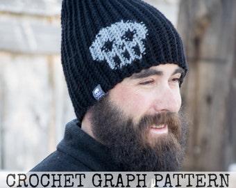 CROCHET GRAPH - Skull Color Grid for Crochet or Knit Beanies