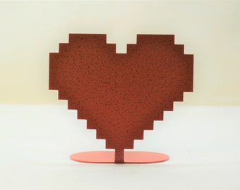 8 Bit Heart Table Decor