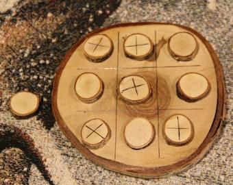 TIC TAC TOE Game Pyrograhpy Wood Burn