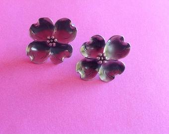 Feminine Stuart Nye Sterling Dogwood Earrings