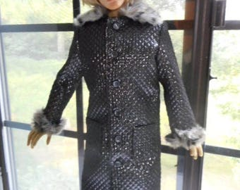 Superhero EID BJD 70 cm Winter Coat with Faux Fur Collar and Cuffs