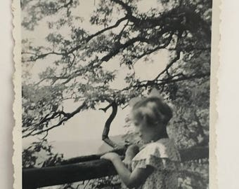 "Vintage Photo ""The Blurry Thinker"" Snapshot Antique Black & White Photograph Paper Found Ephemera Vernacular Interior Design Mood - 58"