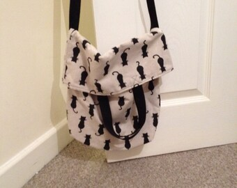 Kitty fold over tote