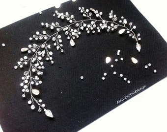 Long hair vine, Bridal hair vine, Crystals Bridal Wedding, Crystal hair vine, bridal hair accessories, hair accessories, hair vin