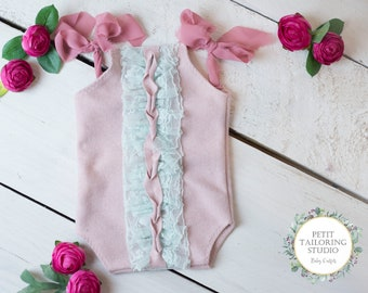 Pink and Mint Bodysuit