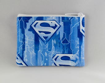 Icy Blue Superman Coin Purse - Coin Bag - Pouch - Accessory - Gift Card Holder