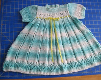 Toddler hand knitted, special occasion dress