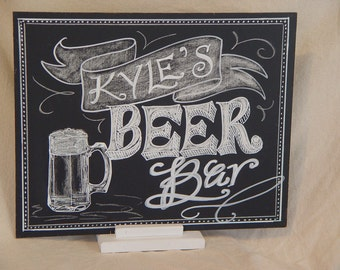 Wedding Signature Drinks Customized Chalkboard 11 x 14 Unframed Chalkboard Art Sign with Stand for your Event Your choice drinks names &date