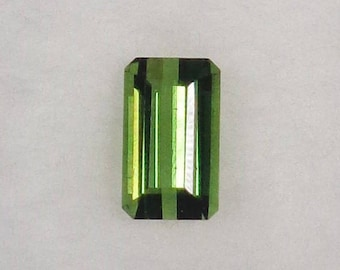 Green Tourmaline Loose .79ct Natural Octagon Cut Faceted Gemstone