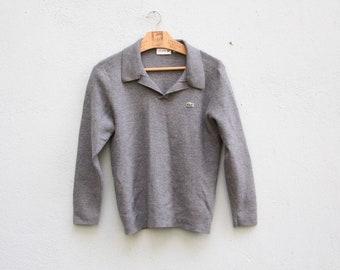 Vintage Lacoste Gray Merino Wool Jumper