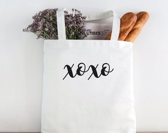 xoxo, love tote, hugs and kisses, Bride Tote Bag, Bride, Wedding, Wedding tote, Bride gift, mrs tote