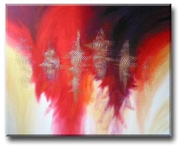 "Life is short, Eat cakes (Contemporary Garden cloud abstract landscape painting) 24""x36"" Yin Lum (custom art)"