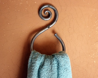 Towel Ring Hand-forged Wrought Iron
