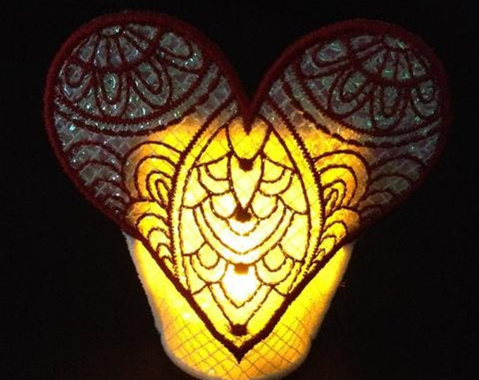 Valentine Mylar TeaLights In-The-Hoop   ( 10 Machine Embroidery Designs from ATW )