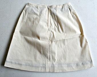 paintable A-line mini-skirt