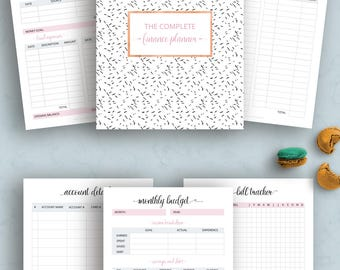 Finance planner, Budget Planner Printable, Debt payoff, Monthly Budget, Expense Tracker, Monthly Saving, Dave Ramsey, Letter size, A4
