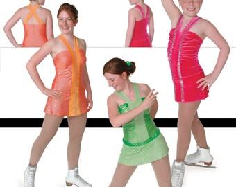 Jalie 2557 - Halter Neck Skating Dress / 22 Sizes / Child & Adult