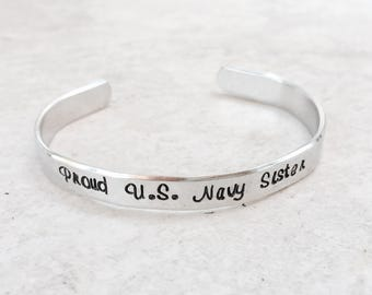 Sale Proud US Navy sister military army navy marine corps Air Force coast guard deployment jewelry navy mom army mom boot camp gift support
