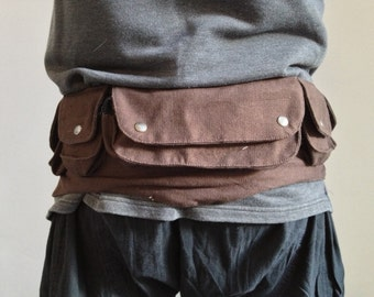 SALE - CANVAS utility belt, Assorted colours, psytrance FANNy PACK, hip waist belt, bumbag, pocket belt, Cnbefp