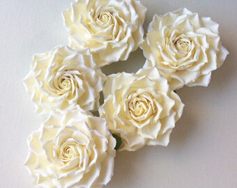 Big yellow vanilla rose for the bride hairstyle Aligator clip