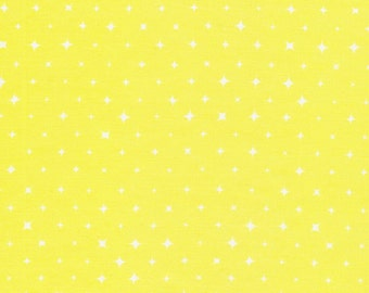 We Are All Stars Aura Yellow Organic Cotton Fabric
