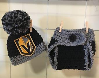 Newborn Las Vegas Knights hat,