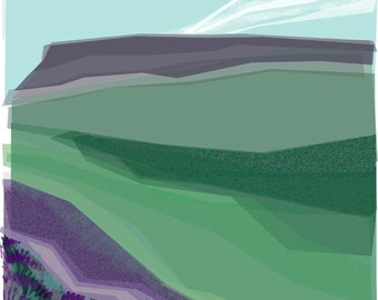 Stanage from Bamford Moor .. limited edition mounted giclee print