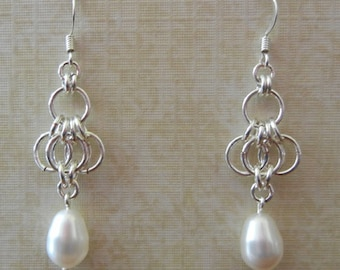 Butterfly Wing Chainmaille Earrings