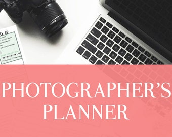 """A Photographer's Planner- 22 Sheets - Comes in 4 Sizes - A4 daily planner, A5 daily planner, 8.5""""x11"""", Personal Day Planner"""