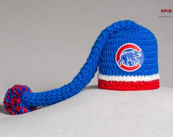 Chicago Cubs baby boy, girl, elf hat, newborn, preemie size available