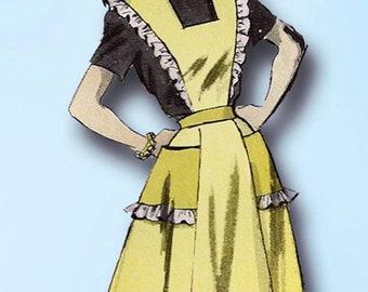 1950s Vintage Advance Sewing Pattern 5884 Misses Set of Aprons Size Medium