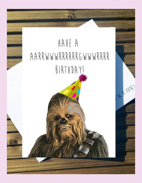 Star wars chewbacca birthday card a5 with envelope bookmarktalkfo Choice Image
