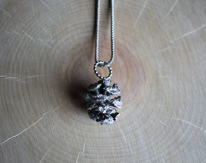 Sterling Silver cast Pine Cone Necklace